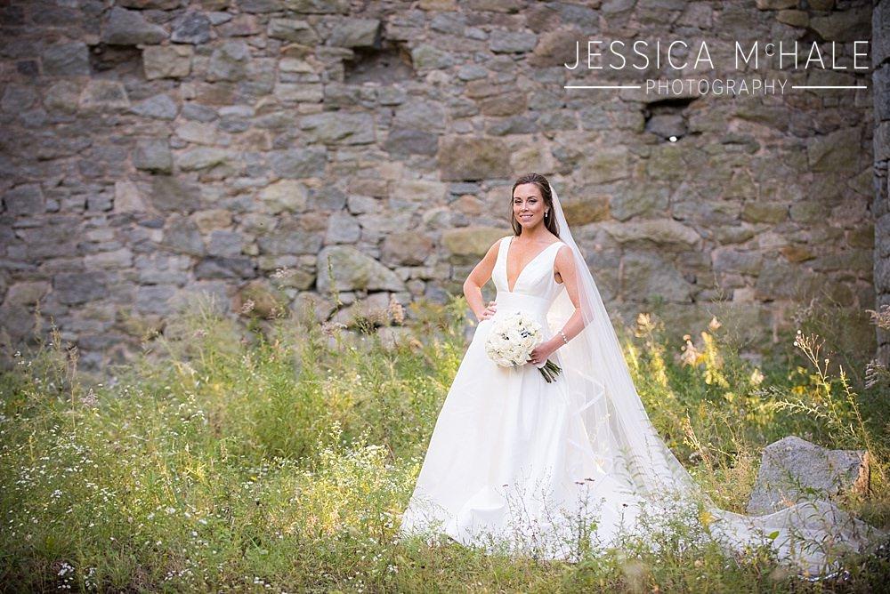 bride at granite links wedding
