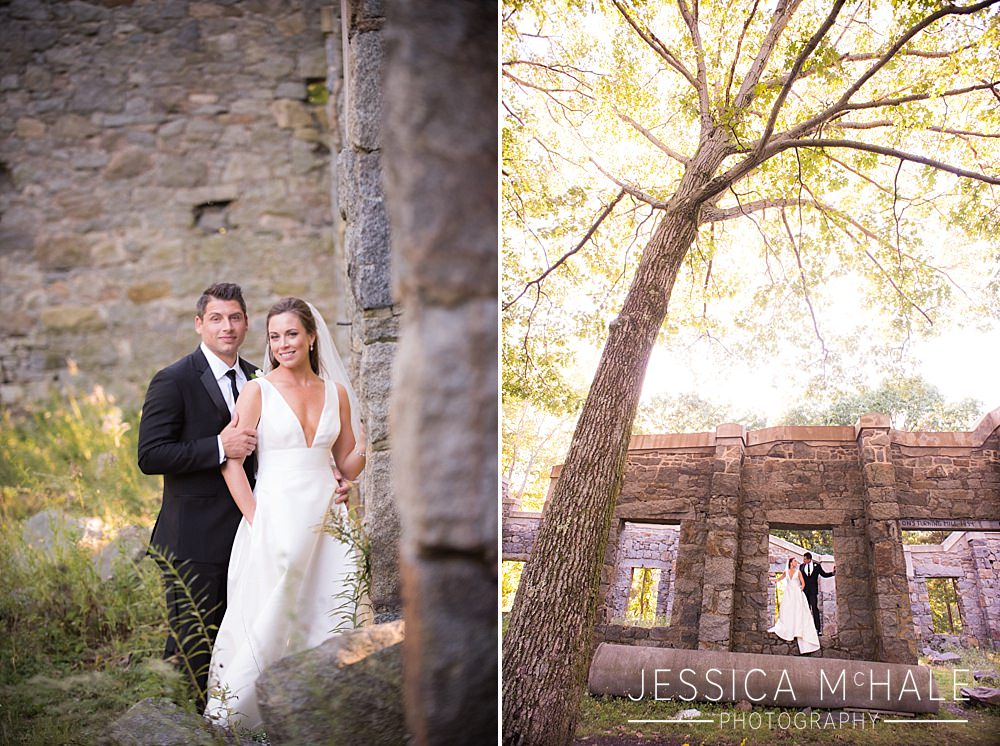 bride and groom at granite links wedding