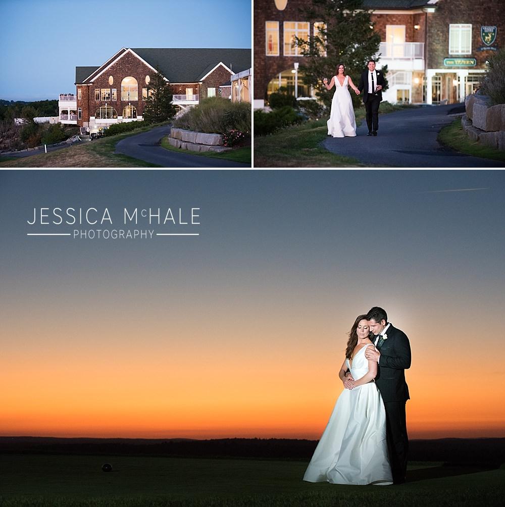 granite links wedding reception sunset photos