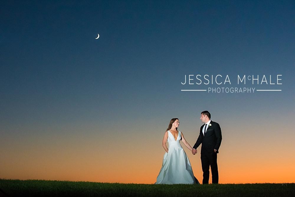 granite links wedding sunset portrait
