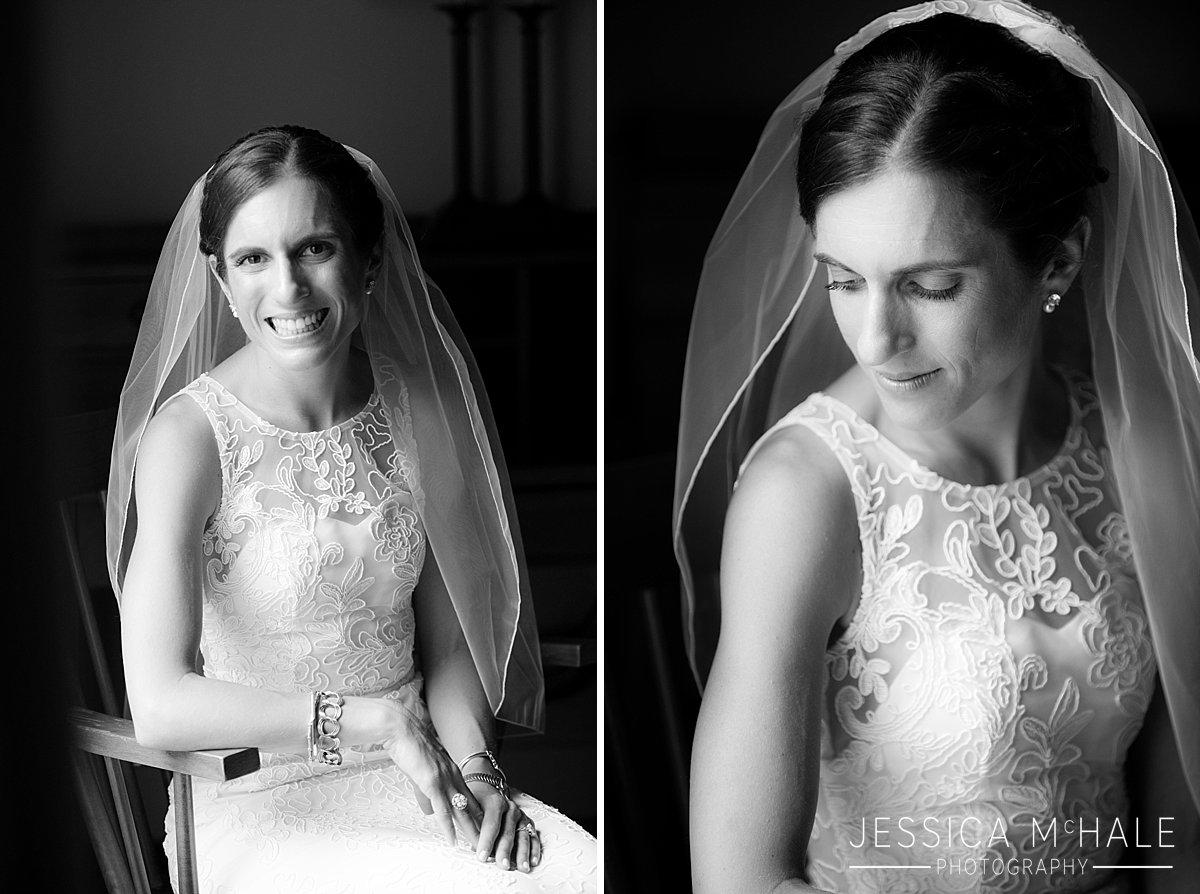 warren conference center wedding bw bridal portrait