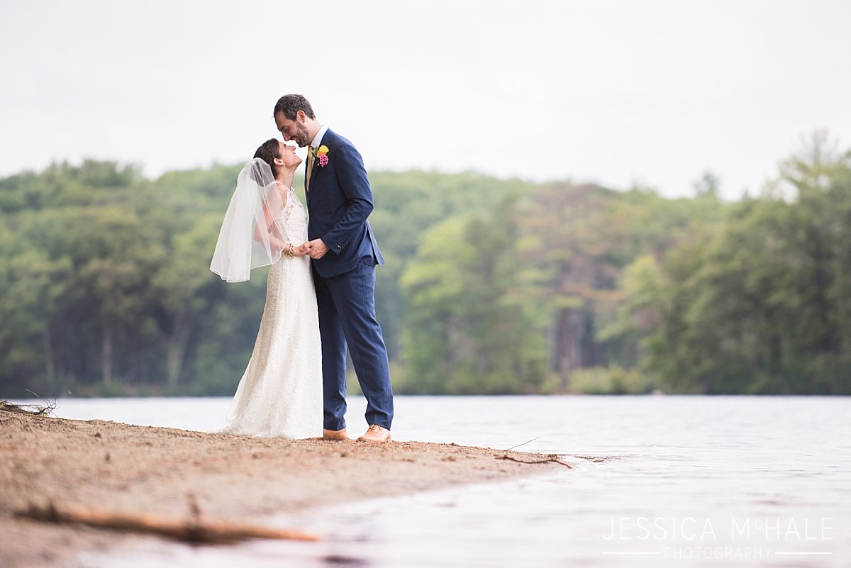 warren conference center wedding bride and groom on the beach