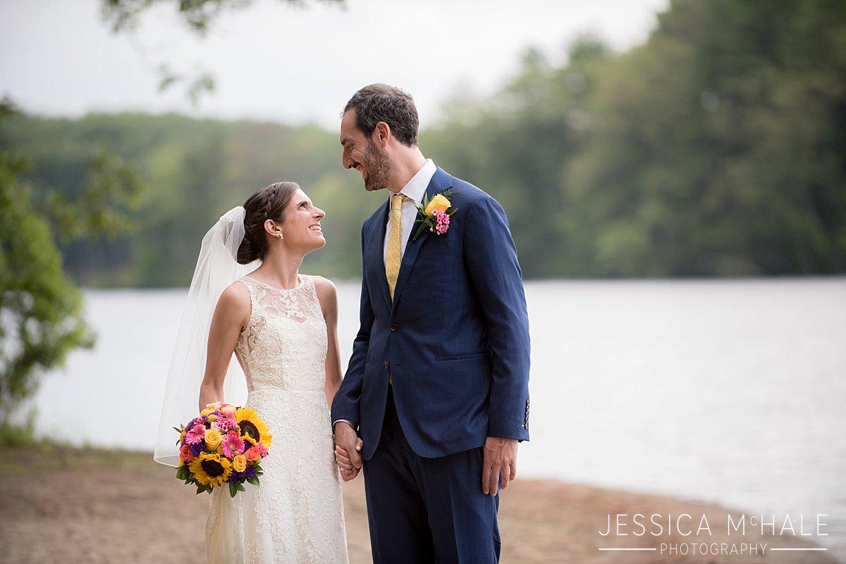 warren conference center wedding bride and groom on beach
