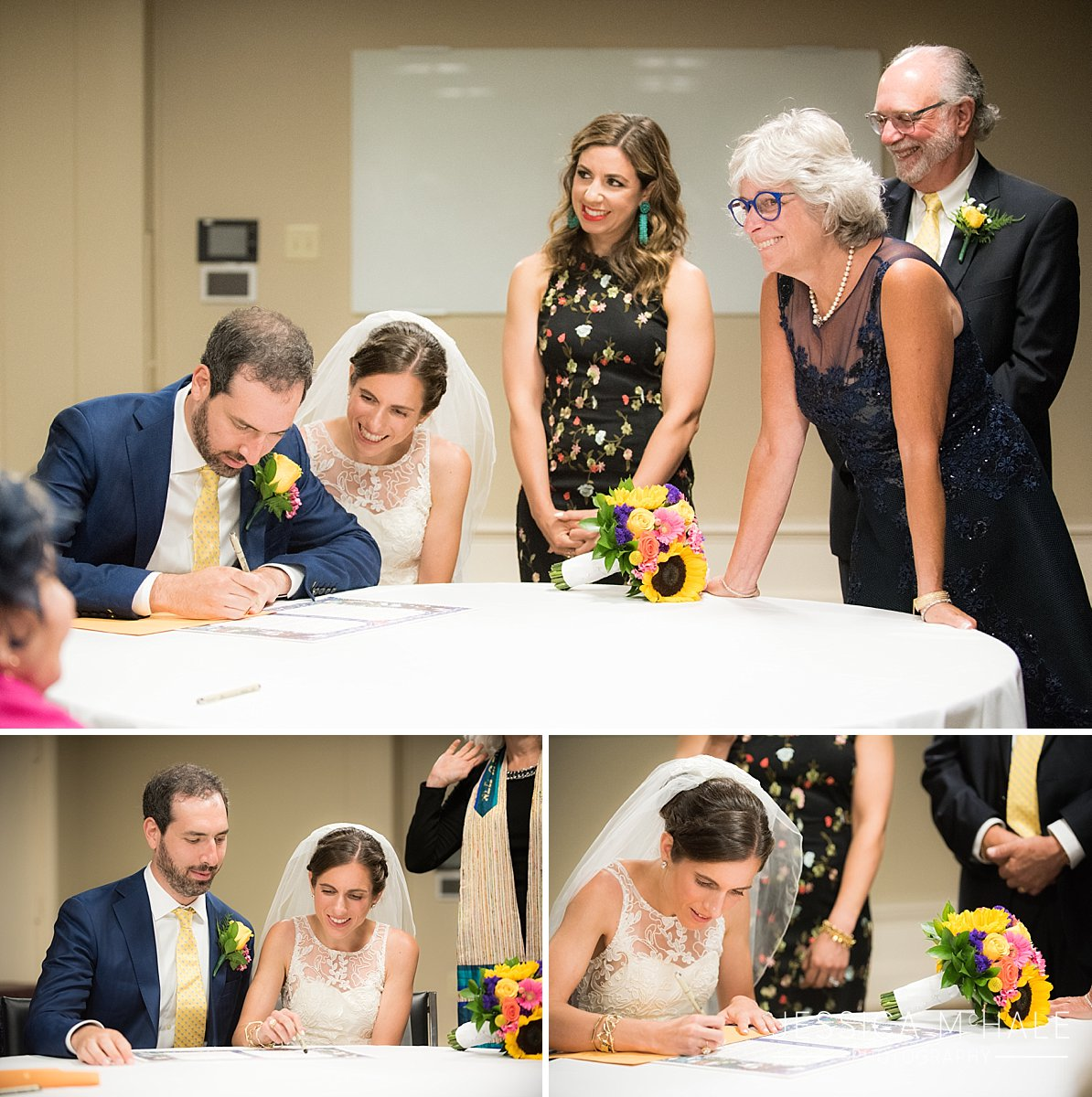 warren conference center wedding ketubah signing