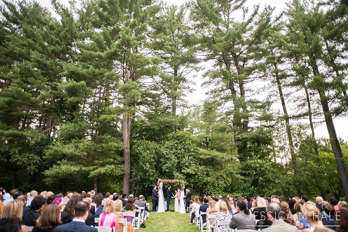 warren conference center outdoor wedding ceremony