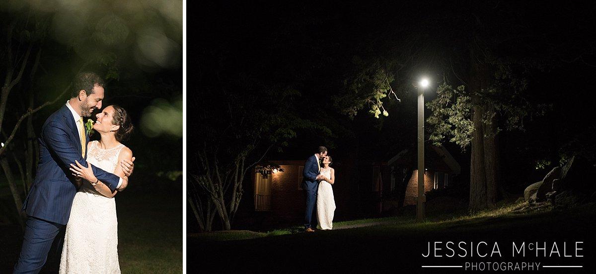 nighttime photo warren conference center wedding