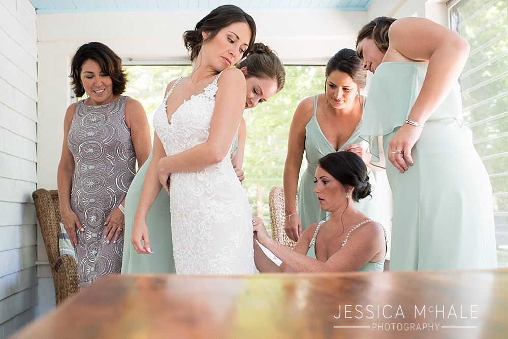 wellfleet beach wedding bride getting ready