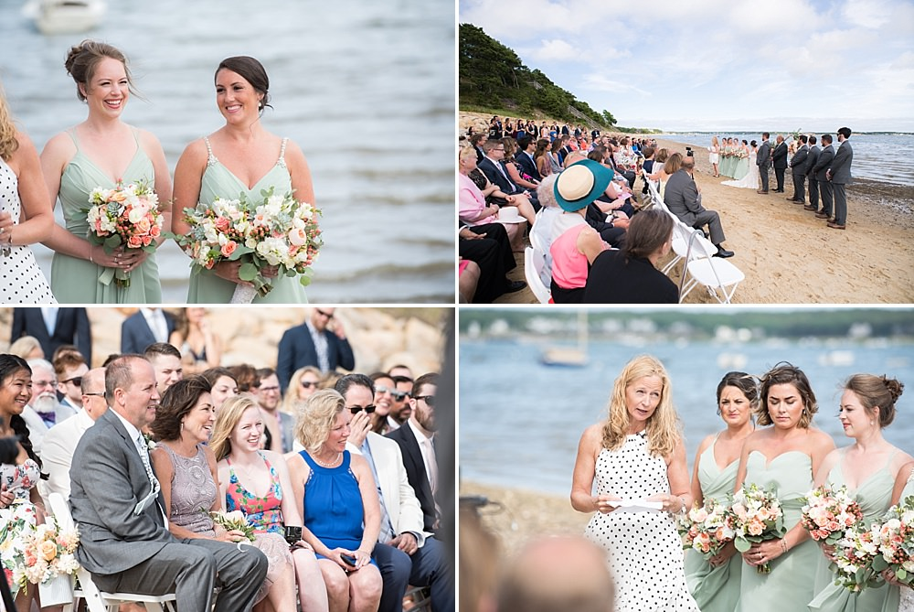 wellfleet beach wedding ceremony