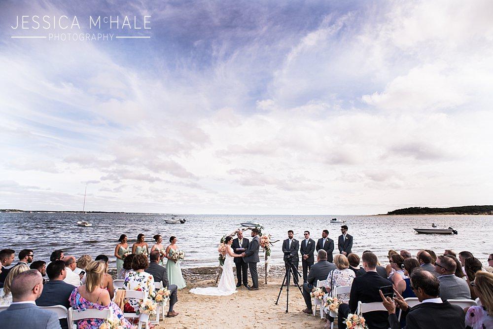wellfleet wedding beach ceremony