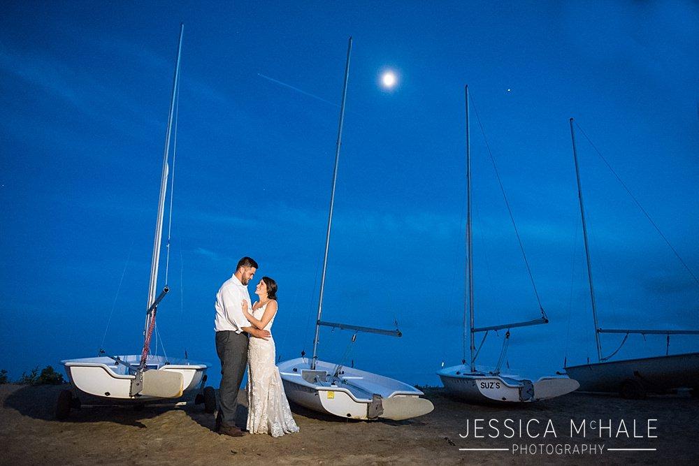 wellfleet beach wedding nighttime photo