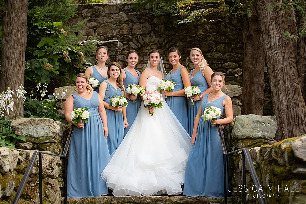 bridesmaids at the connors center wedding
