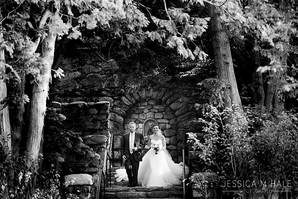Bride entrance the Connors Center Dover MA