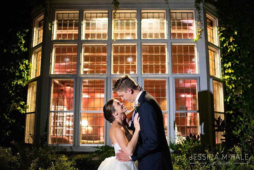 Conors center wedding nighttime photo