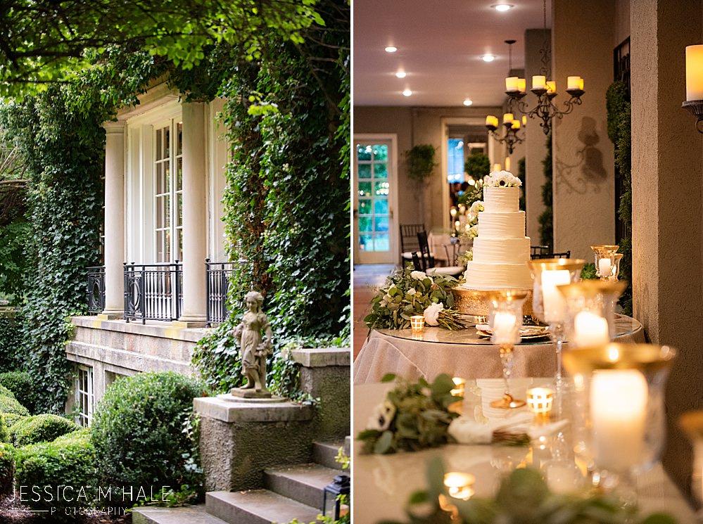 lord thompson manor wedding details cake
