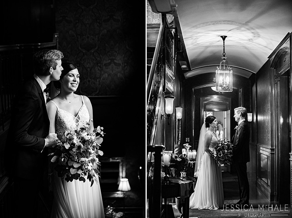 lord thompson manor wedding black and white