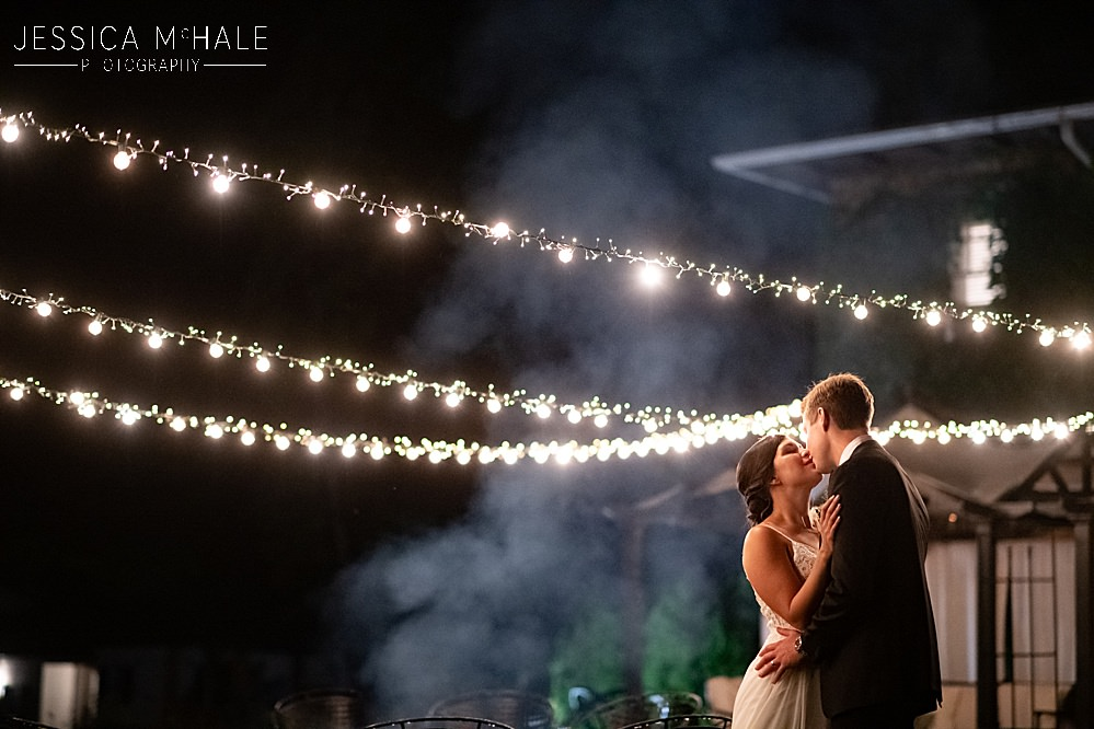 lord thompson manor wedding nighttime image