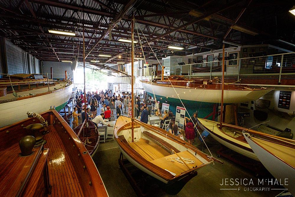 Herreshoff Maritime Museum Wedding inside the museum