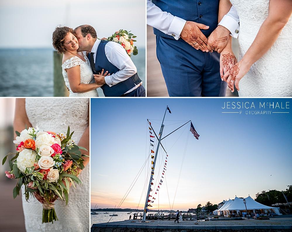 Herreshoff Maritime Museum Wedding sunset