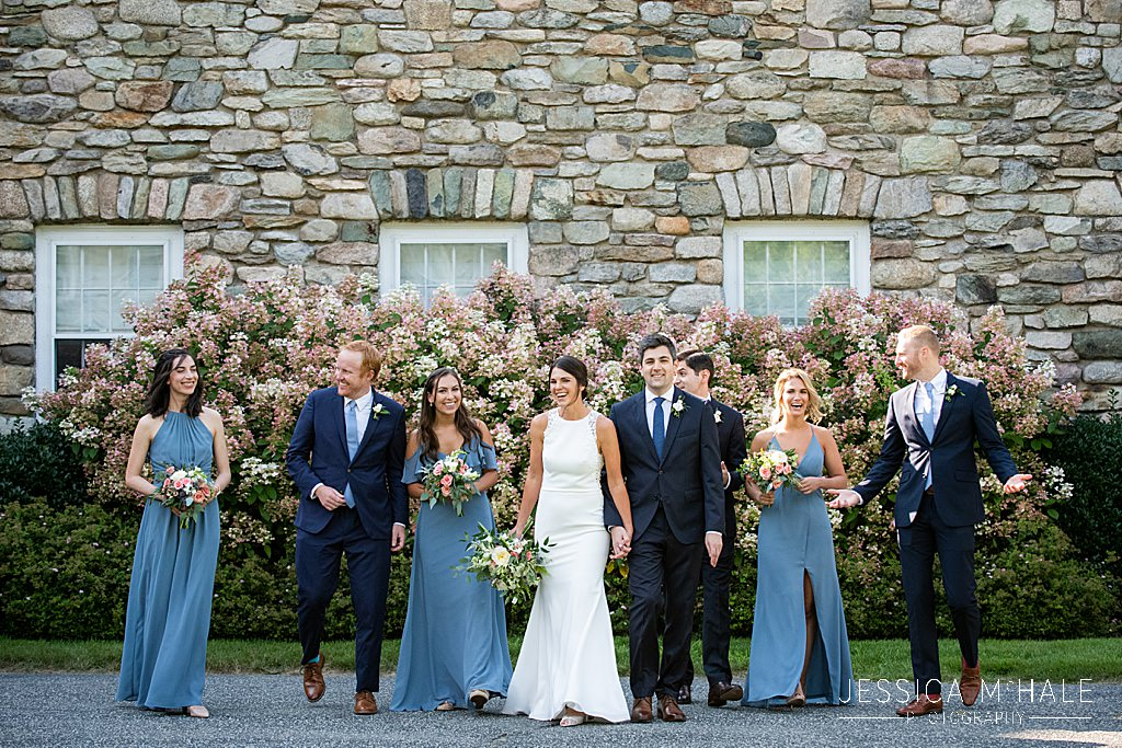 bridal party outside connors center dover ma