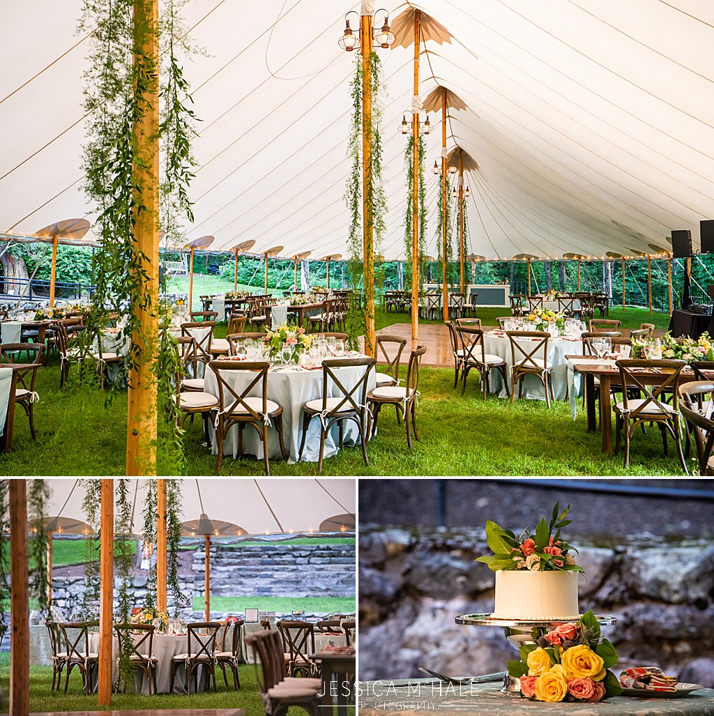 sailcloth tent reception at connors center dover ma