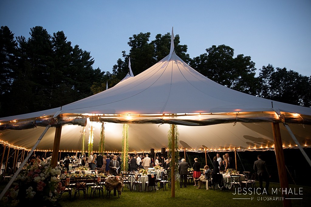 connors center dover tented wedding reception sailcloth tent from sperry tents