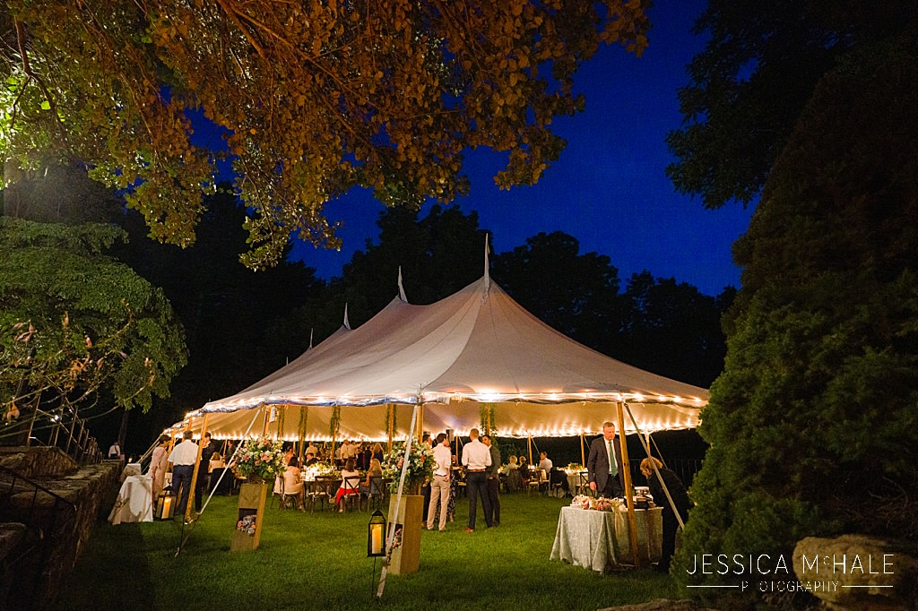 sailcloth tent at nighttime wedding reception connors center dover ma